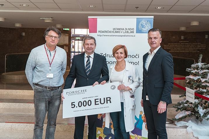 Donacija 5000 EUR Ustanovi za pediatrično kliniko