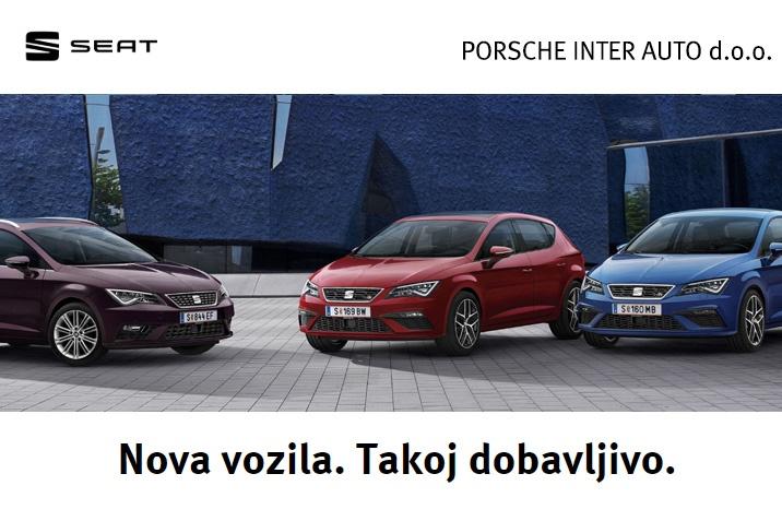 SEAT - Nova vozila. Takoj dobavljivo.